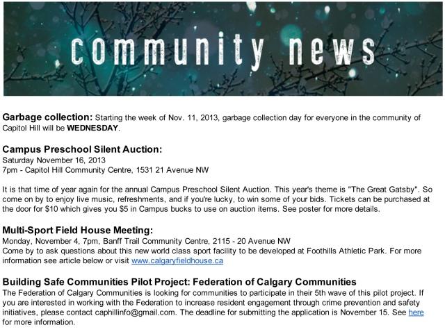 November Newsletter thumbnail