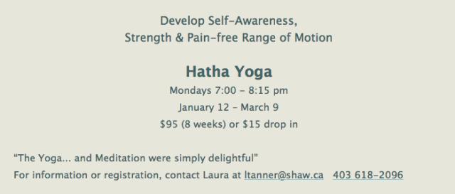 Hatha Yoga Jan 2015