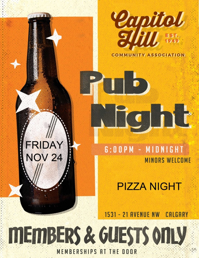 Pub Night Poster November 2017